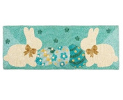 Bunnies and Eggs Beaded Holiday Table Runner 90cm