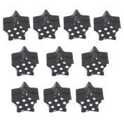 ROSENICE 10pcs Wood Photo Holder Stands Star Shape Table Number Holders Place Card Paper Menu Clips for Weddings Party