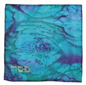 Ben and Jonah Artisan Silk Blue Matzah Cover