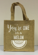 Hessian Tote Lunch Bag - You're One In A Melon