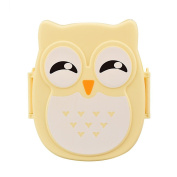 Bento Lunch Box, Prevently Brand New Reusable Owl Lunch Box Food Container Storage Box Portable Bento Box