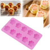 Gluckliy Lovely Sweet Multifunction Dog Paw Silicone Mould Ice Cube Cake Mould Baking Muffin Candy Jelly Chocolate Mould Kitchen Accessoriess