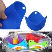 Jaminy 4PCS Kitchen Silicone Egg Poacher Poaching Poach Cup Pods Mould Random Colour