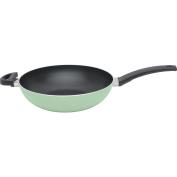 "BergHOFF Eclipse Non-Stick PFOA-Free Induction-Safe Wok 28cm 11"", Aluminium, Soft Green"