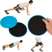 Core Exercise Sliders – 2 x Dual Sided Gliding Discs for Use on Carpet and Hard Floors