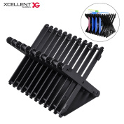 Xcellent Global Multi-angle Universal Disc Storage Holder, Folding Game Storage Stand for Switch, PS4, PS4 Pro, Xbox one, Xbox 360, DVDs, PS4 and Xbox Video Games HG258