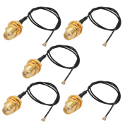 sourcingmap RF0.81 Soldering Wire IPEX3 to SMA Antenna WiFi Pigtail Cable 20cm Long for Router 5pcs