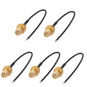 sourcingmap RF1.37 Soldering Wire IPEX to SMA Antenna WiFi Pigtail Cable 10cm Long for Router 5pcs