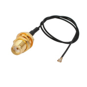 sourcingmap RF0.81 Soldering Wire IPEX3 to SMA Antenna WiFi Pigtail Cable 20cm Length