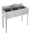 Stainless Steel Three Compartment Under Bar Sink 36 x 18.5