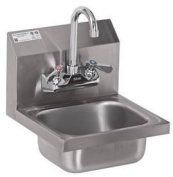 DuraSteel Commercial Hand Sink Stainless Steel Wall Mount With Faucet