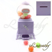 Luxcathy Gumball Bank Candy Dispenser Vending Machine for Party, Candy / Chocolate / Jelly Bean Storage, Gift - 18cm Height 7.6cm Wide