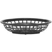 TableCraft 1071BK Black 18cm - 1.9cm Oval Side Order Basket - Dozen