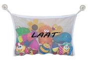 LAAT Baby Bath Toy Organiser Mesh Bag Kids Shower Toys Storage Pouch with 2 Suction Cup