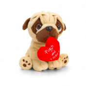 Keel Toys 30cm Pugsley Valentine Pugs and Kisses