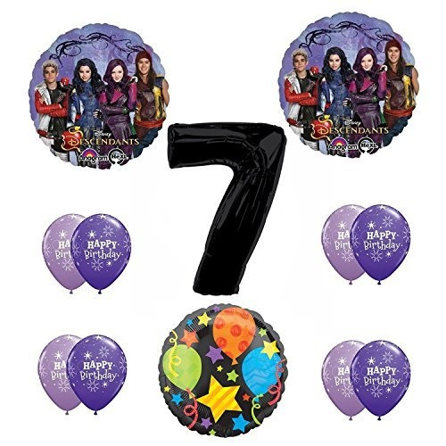 Disney The Descendants 7th Happy Birthday Party Supplies Balloon Decoration Kit By Anagram