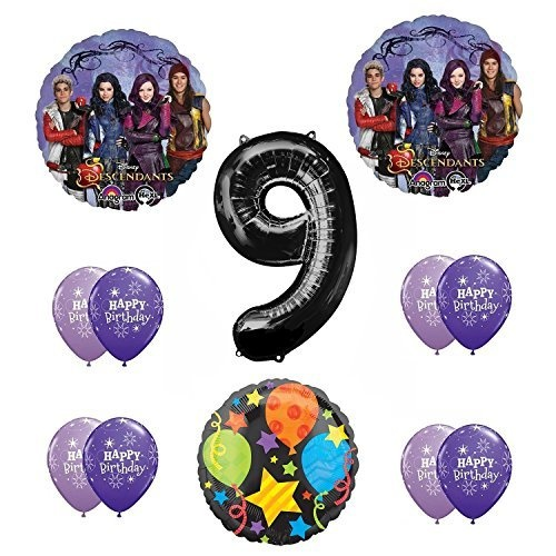 Disney The Descendants 9th Happy Birthday Party Supplies Balloon Decoration Kit By Anagram