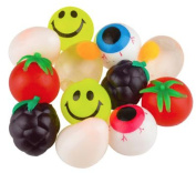 Splat Balls, Set of 5 Sticky Splat Balls in Assorted Designs, Fun Party Favours!