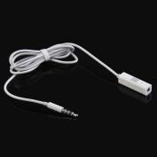 Vanpower 3.5mm Handsfree Headphone Remote Control Adaptor for iPhone iPod iPad White