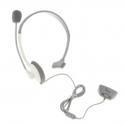 MagiDeal Wired Headset Stereo Gaming Single Ear Headphone w/Mic for Xbox 360 White
