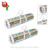 Elf Stor Wrapping Paper Gift Wrap Storage Bag for 80cm Rolls | 2 Pack