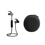 Sharplace Sport Bluetooth Wireless Stereo Earphone+ Carry Travel Storage Case Bag Black