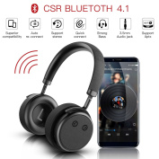Bluetooth Noise Cancelling Headphones – Ocday H5 ANC High Resolution Wireless Headphones Support APT-X Technology over ear headset Wireless with Digital Noise Cancelling Strong Bass Black