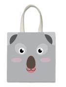Koala Koalas Koala Bear Cute Face Halloween Trick Or Treat Polyester White Tote Bag 15x16x 3.5