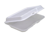 Pactiv Classic Polystyrene Foam, Low-Profile, 24cm Long Rectangular Food Container, White | 150/Case