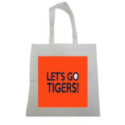 Lets Go Tigers Clemson 2017 Halloween Trick Or Treat Polyester White Tote Bag 15x16x 3.5