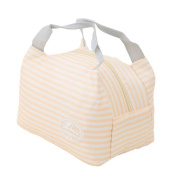 Meolin Oxford Cloth Aluminium Foil Insulated Lunch Bag Lunch Box Package,Yellow stripes,7.875.2330cm