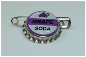5 GRAPE SODA bottle cap pins INSPIRED by Disney UP