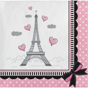Party Creations Party in Paris Beverage Napkins, 18 Ct