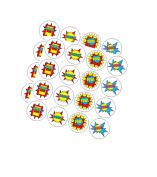 120ct Boy's Super Hero Theme Stickers