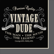 Party Creations Vintage Dude Lunch Napkins, 16 Ct