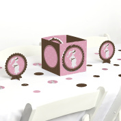 Mommy-To-Be Silhouette - It's A Girl - Baby Shower Party Centrepiece & Table Decoration Kit
