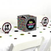 80's Retro - Totally 1980s Party Centrepiece & Table Decoration Kit