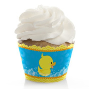 Ducky Duck - Baby Shower or Birthday Party Cupcake Wrappers - Set of 12