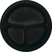 Black Velvet Divided Banquet Plates, 20-Pack