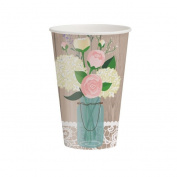 Party Creations Rustic Wedding Hot/Cold Cups, 350ml, 8 Ct