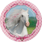Party Creations Heart My Horse Dinner Plate, 23cm , 8 Ct
