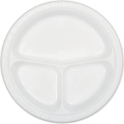Bright White Divided Banquet Plates, 20-Pack