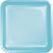 Pastel Blue Square Dessert Plates, 18-Pack