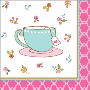Party Creations Tea Time Beverage Napkins, 16 Ct