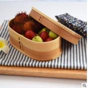 GuiXinWeiHeng Japanese lunch box single layer wooden lunch box lunch box lunch box