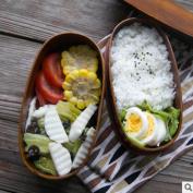 GuiXinWeiHeng Wooden double sushi lunch box Wooden lunch box Wooden lunch box cutlery
