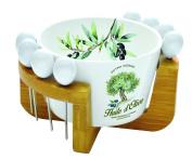 R2S 850PROV Soft Provence Bowl on Stand Ceramic 17 x 13 x 10 cm