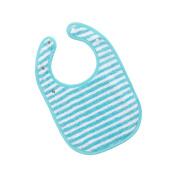 Vossen Baby Stripe Bib, 002 Light Azure