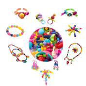 Pop Beads Set Creative DIY Jewellery Toy for Girl 4 Xmas Gift Making Necklace,Ring,and Bracelet for Ages 3 and Up