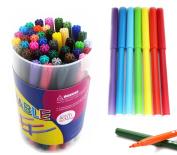 SKKSTATIONERY 50 Pcs Colouring Pens, Colour Felt-tip Pens, Colour Markers, Washable, 50 Colours.